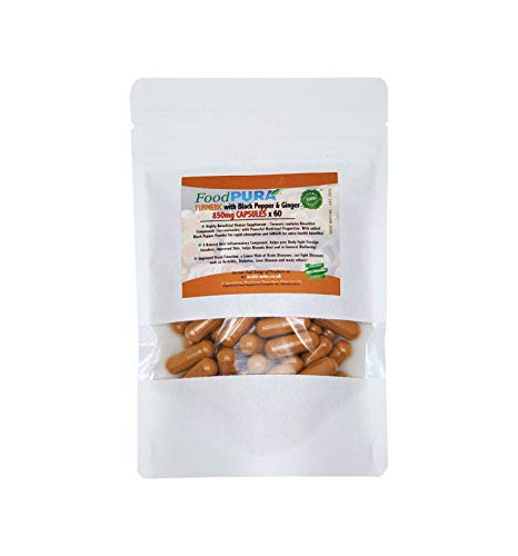 Turmeric Curcumin with Organic Black Pepper & Organic Ginger - 60 Vegan Capsules - HIGH Potency