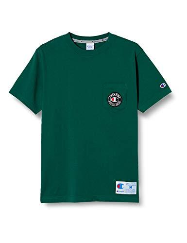 [チャンピオン] Tシャツ 半袖 綿100% ポケットTシャツ ロゴフェルトワッペン ジョックタグ付きショートスリーブTシャツ C3-T319 メンズ ダークパイン S