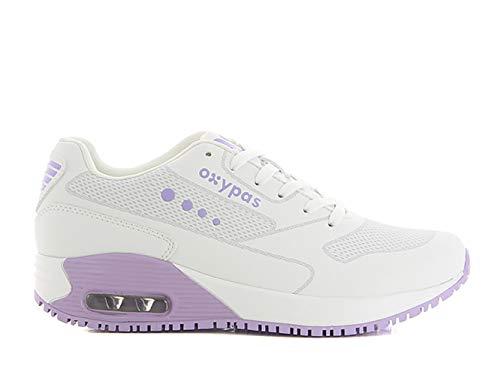 Oxypas Ela SCR, Sportschuhe, Arbeitsschuhe, Sneaker (ElaS3901lic),White with Lilac,39 EU