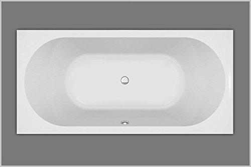 Baignoire rectangulaire en acrylique blanc 175 x 80 x 47 cm.