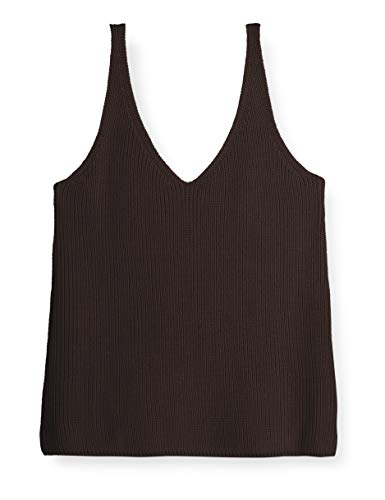 The Drop Women's Claire Double V-Neck Textured Rib Sweater Tank