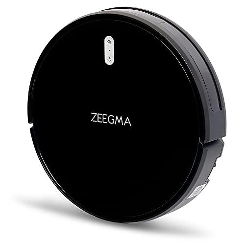 Zeegma Zonder Robo Next robot aspirapolvere lavaggio a umido 6 modalità di funzionamento 15 sensori anticollisione Dispositivo intelligente App filtro HEPA, Nero