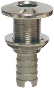 Groco Stainless Steel Straight Hose Thru-Hull Fitting for 1-1/2-Inch Hose by Groco