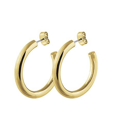 DYRBERG/KERN - Klassischer Vergoldeter Damen Ohrring - Nickelfrei - Edelstahl - Dänisches Design - Handgemacht - Cirkula