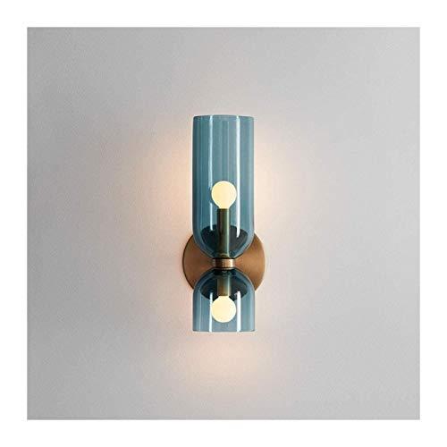 HongLianRiven Lámpara de pared para dormitorio, mesita de noche, lámpara de sala de estar, diseño creativo, 2 x E14 (12 x 35 cm)