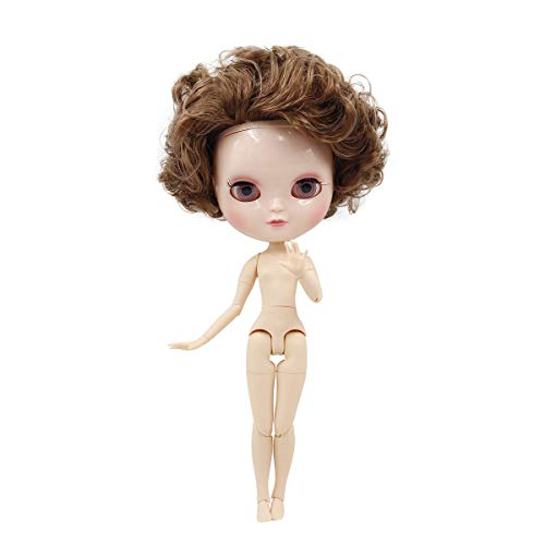 The 30.5cm ICY Nude Doll,can Change The faceplate and Clothes for DIY Maker,19 Joint Body Doll is Suitable for Girls Present and Best Gift. (BL90 950)
