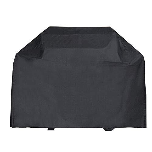 FCZBHT Couverture de Meubles De Plein Air Noir Couverture De Barbecue, Imperméable Crème Solaire Garde poussière (Couleur : Noir, Taille : 177 * 60 * 121cm)