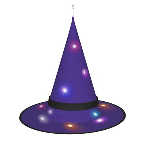 Dihui Grape Purple Halloween Glowing Hat, Outdoor, Garden, Trees, Party Decoration, Outdoor Halloween Decorations, Witch Hat with Lights.