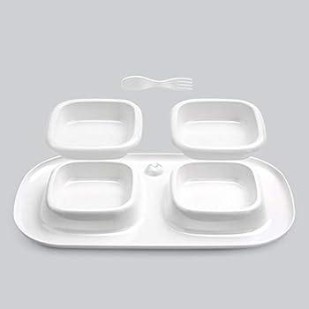 Chiens Gamelles et distributeurs Fournitures pour Animaux De Compagnie en Plastique Bol De Nourriture pour Chat Chat Bol Simple Bol Double Bol Trois Bol Chiens Gamelles (Taille : Double)