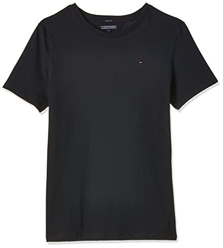 Tommy Hilfiger Jungen Boys Basic Cn Knit S/S T-Shirt, Blau (Sky Captain 420), 176 (Herstellergröße: 16)