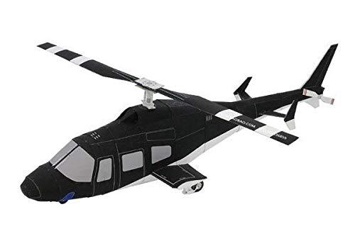 FEIFUSHIDIAN Tipo de doble hoja helicóptero 3D modelo de papel DIY rompecabezas hecho a mano avión origami juguete miniatura