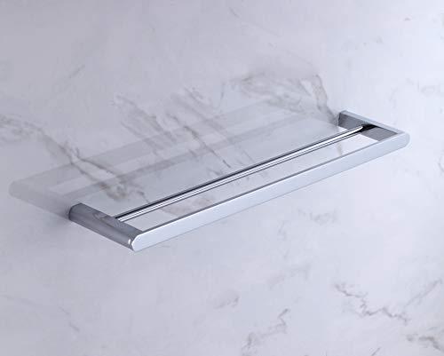 PBA Dubbele Handdoek Rail - Hoge Kwaliteit - Verchroomd Messing - Muur gemonteerd
