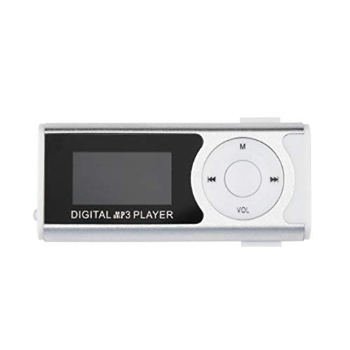 KoelrMsd Mini USB Clip MP3 Media Player Pantalla LCD Soporte 16GB TF Luz LED Exquisitamente diseñado Durable