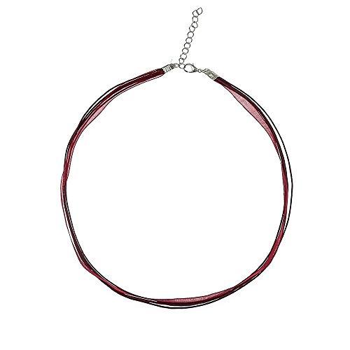 Alpenklinker Kette Chiffon DIY Halsband viele Farben zu jedem Dirndl passend schmuckrausch Farbe Bordeaux