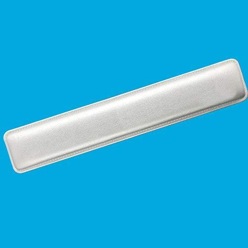 LIULIU Poggiapolsi in Pelle Cuscino Mano Comfort Spugna Polsiera Poggia Polsi 104 Chiave 87 Tasti Poggiapolsi Tastiera Meccanica,Silver-L