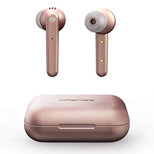 Urbanista Paris True Wireless Kopfhörer 20H Spielzeit Kabellose Ladetasche, Bluetooth 5.0, Geräuschdämpfende Kopfhörer mit Touch-Steuerung + eingebautem Mikrofon, kompatibel mit Android und iOS - Rosa