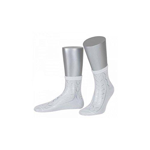 ALMBOCK Socken zum Dirndl weiß - Damen Strümpfe in weiss - knöchellanges Modell in vielen verschiedenen Größen