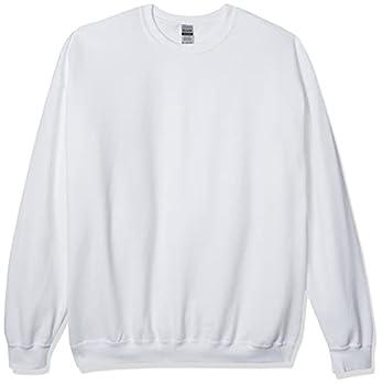 Gildan Men s Fleece Crewneck Sweatshirt Style G18000 White Large