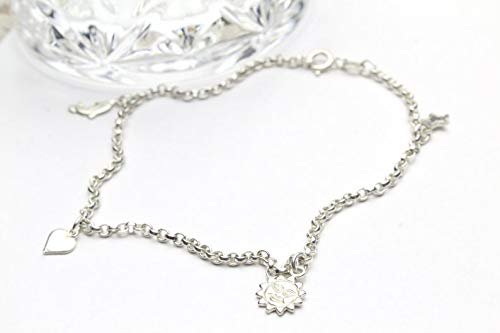 Sterling Silver 925 Anklet Charm and Dolphin Sun Star Super Max 90% OFF sale Bracelet