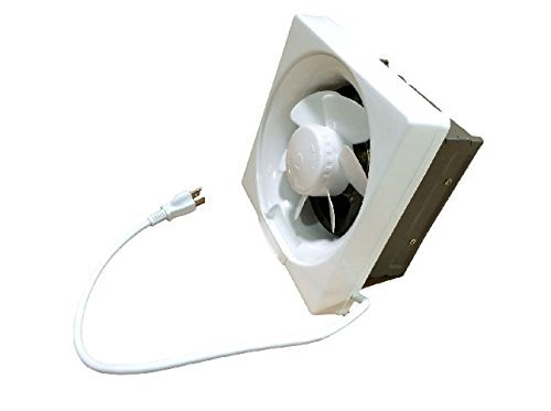 Professional Grade Products 9800396 Shutter Exhaust Fan for Garage Shed Pole Barn Hydroponic Ventilation, 671 CFM, 10""