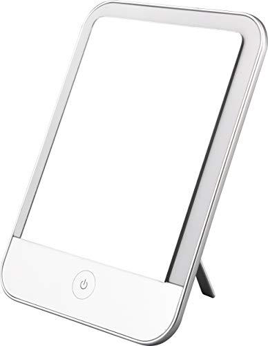 MÜLLER-LICHT Mirror Light, tragbare LED Tischleuchte Schminkleuchte Spiegelleuchte mit 2 x Zoom, Verschiedene Weißtöne (2700-6500K), dimmbar, Memory-Funktion, 3 W, weiß
