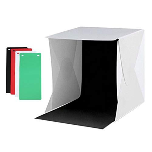Qinghengyong Portátil Caja de luz Estudio Caja Plegable de iluminación iluminación de la fotografía Carpa Objeto pequeño Sesión Foto Stand