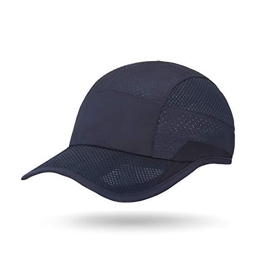 ZEARE - Gorra de béisbol unisex de secado rápido, impermeable, transpirable, de poliéster, de algodón Marine 0703. Talla única