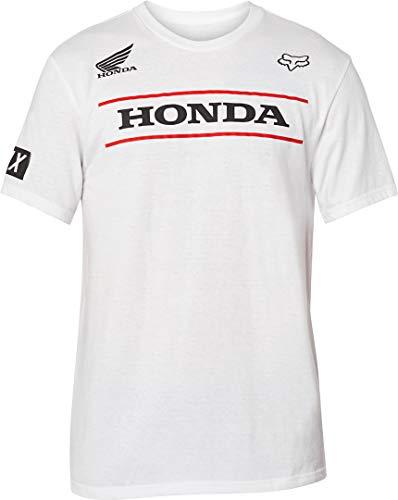 Fox Racing Mens Honda FA20 Shirts, Optic White, Large