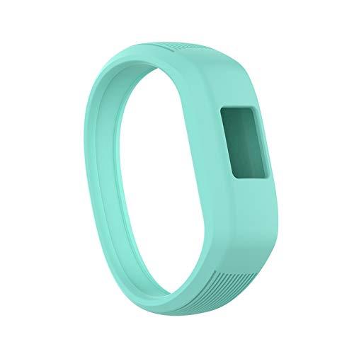 Niños Suaves Silicone Smart Watch Band Sports Reemplazo De Pulseras Pulsera Correa De Muñeca para Garmin VIVOFIT JR 2 / VIVOFIT 3 (Color : Mint, Size : S)