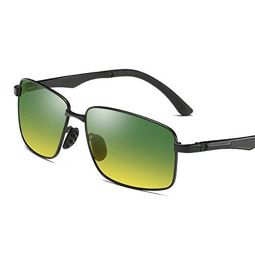Yiph-Sunglass Sonnenbrillen Mode UV-geschliffene Hochleistungsbrille mit Sonnenbrillenetui Polarisierte Herren-Sonnenbrille für Tag- und Nachtfahrten Nachtfischen NachtfahrtenSport-Sonnenbrillen