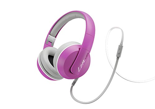Magnat LZR 580 S High Performance Over-Ear-Headphone | Flachkabel mit Fernbedienung, Freisprecheinrichtung, und Knickschutz - pink/white