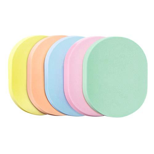 HEALIFTY Facial Cleaning Sponge Puff Soft Tool Nettoyant visage éponge de poudre de maquillage 5pcs (Chargement mixte)