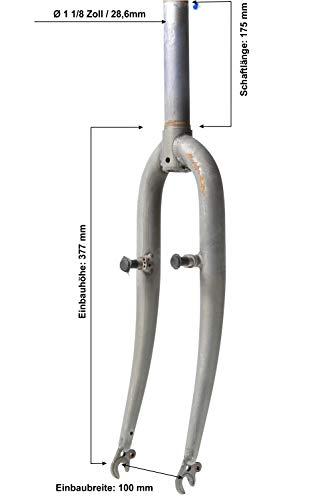 24 Zoll Fahrrad Starr Gabel 1 1/8 Zoll Stahl roh 175mm Gewinde V Brake Felgenbremse