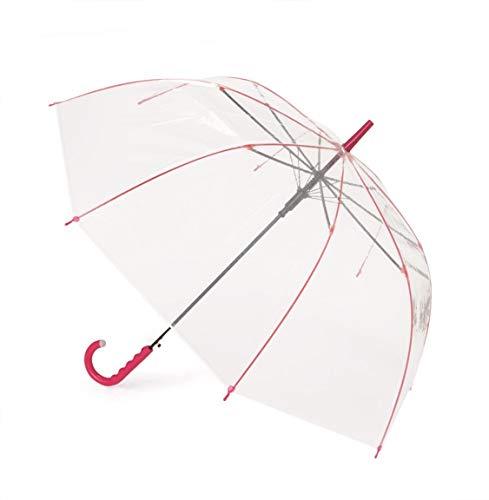 カラフルアンブレラ 60cm ビニール傘 グラスファイバー 滑り止め付ジャンプ傘 LA-0001 (ピンク)