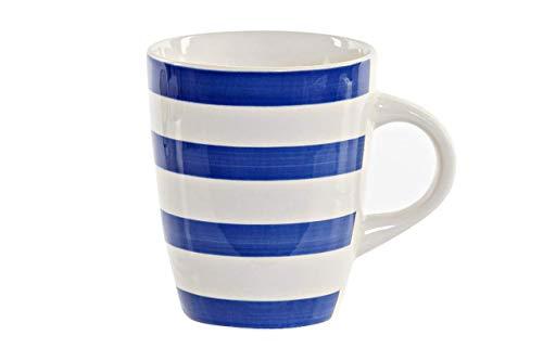 Preciosas Tazas Marinero de Cerámica de Diseños Moderno y Actual para Desayuno –Café con Leche Diseño Original y Moderno – 330ml – 1 Unid.(Azul)