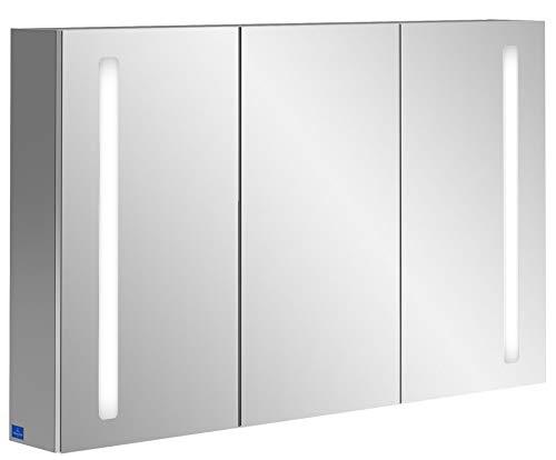 Villeroy & Boch My View 14+ spiegelkast A43312, 1200 x 750 x 173 mm, met LED-verlichting verticaal, afsluitbaar medicijnkastje - A4331200