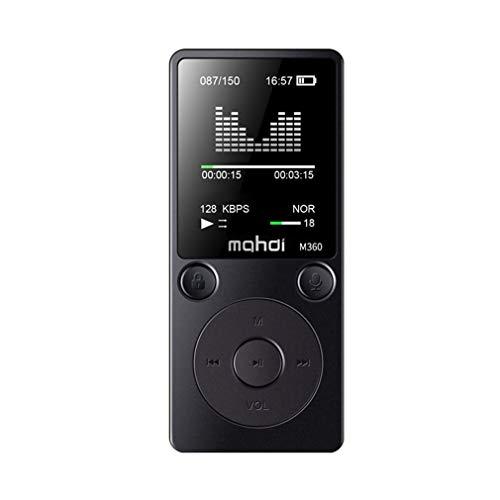 8GB 1.8-inch touchscreen Digitale MP3-speler HIFI Muziekspeler Stereo Luidspreker Metalen Sport Muziekspeler Ondersteuning TF Cardblack