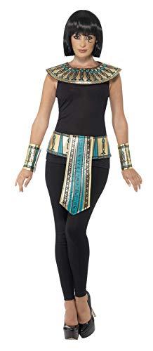 Smiffys Kit egizio, dorato, con colletto, polsini e cintura