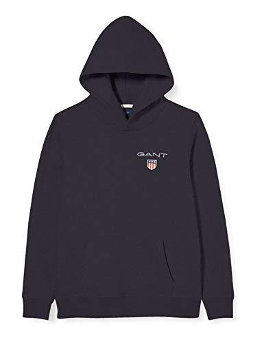 GANT Jungen MEDIUM Shield Sweat Hoodie Kapuzenpullover, Schwarz (Black 5), (Herstellergröße: 170)