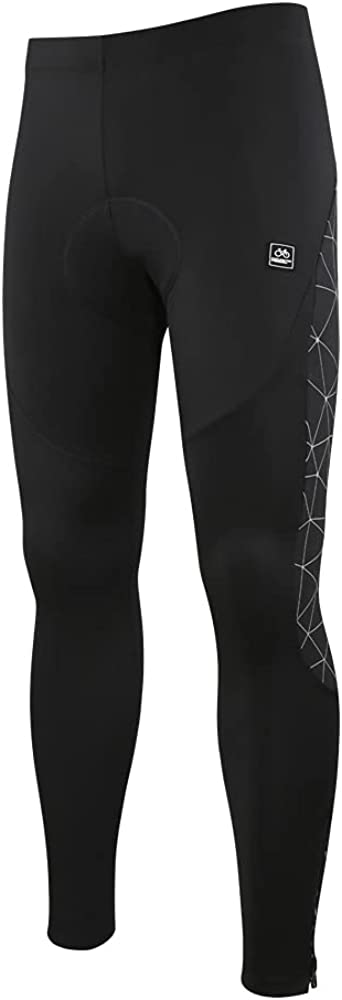 Santic Cycling Tights Fleece Thermal Padded Pants Reflec Rapid rise Max 86% OFF Bicycle