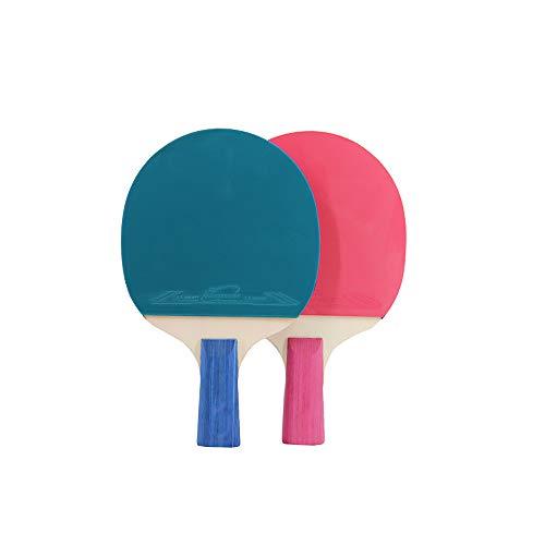 Juego de pelotas de ping pong, bolsa de almacenamiento para jugar al ping pong, para jugar al ping pong, para interior y exterior, color azul rosa