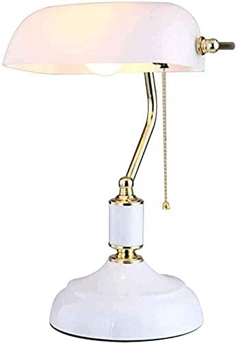 Lámpara de banquero tradicional faros Lámpara de mesa vintage con lámpara de cristal Equipo de iluminación suave E27 Habitación Comedor Sala de estar - Bronce-Lámpara de mesa retro