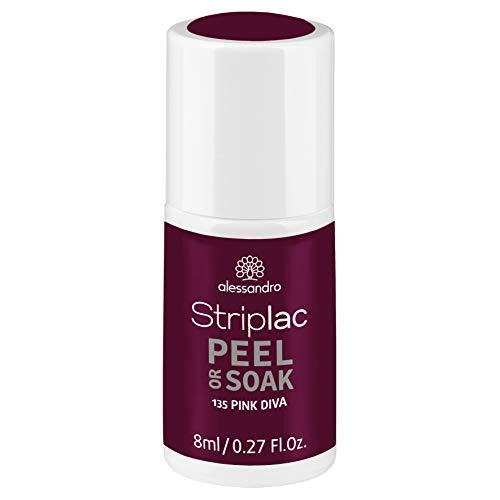 alessandro Striplac Peel or Soak Pink Diva – LED-Nagellack in dunklem Pink – Für perfekte Nägel in 15 Minuten – 1 x 8ml
