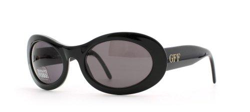 Gianfranco Ferre 325 807 Damen-Sonnenbrille, rund, zertifiziert, Vintage-Stil, Schwarz