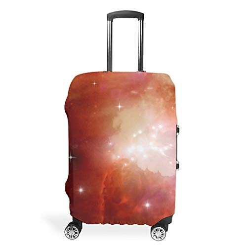 Galaxy Travel Luggage Case Cover Protector – Universe Unique Luggage Cover Multiple Sizes for Most Suitcases, White (White) - Bannihorse-scc