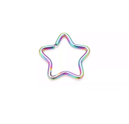 HoitoDeals - Piercing de acero quirúrgico con forma de estrella