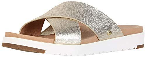UGG Damen Kari Metallic Sandale, Gold, 39 EU