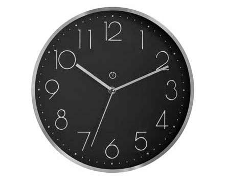 sompex Clocks Wanduhr Virginia, Farbe:schwarz