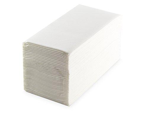 saten ser42102686Premium, serviette 40x 40, 2couches, pli 1/8, 40serviettes, punta-punta, blanc