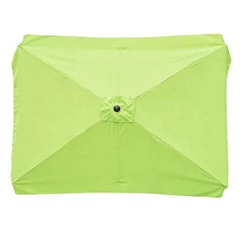 Yescom Rectangle Replacement Patio Umbrella Canopy Parasol Top Cover for 6 Ribs 6.5x10ft Garden Umbrella 180g